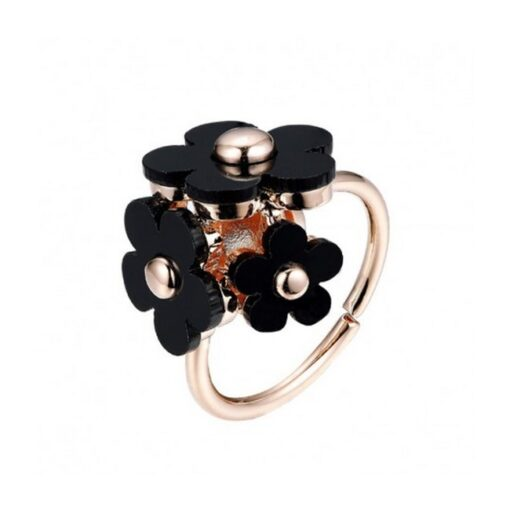 Everneed - Honey Daisy Ring - Sort fra Everneed