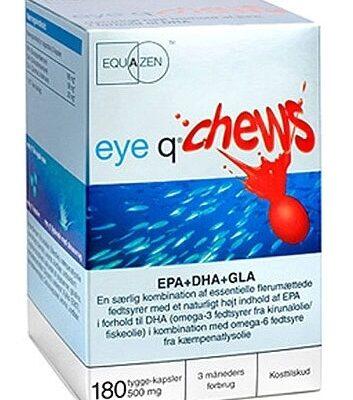 Eye Q - Kosttilskud Fiskeolie - Eye Q Chew Jordbær Smag - 180 Kapsler fra Eye Q