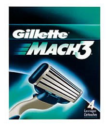 Gillette - Mach 3 -  Barberblade 4-pak fra Gillette