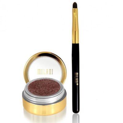 Milani Cosmetics - Fierce Foil Eyeliner - Brown Foil - Inkl Pensel fra Milani Cosmetics