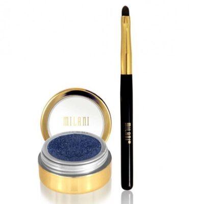 Milani Cosmetics - Fierce Foil Eyeliner - Navy Foil - Inkl Pensel fra Milani Cosmetics
