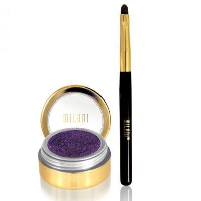 Milani Cosmetics - Fierce Foil Eyeliner - Purple Foil - Inkl Pensel fra Milani Cosmetics