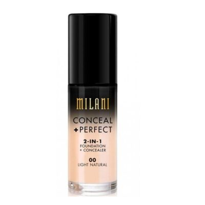 Milani Cosmetics - Foundation 2in1 - 00 Light Natural - Conceal Perfect Foundation and Concealer fra Milani Cosmetics