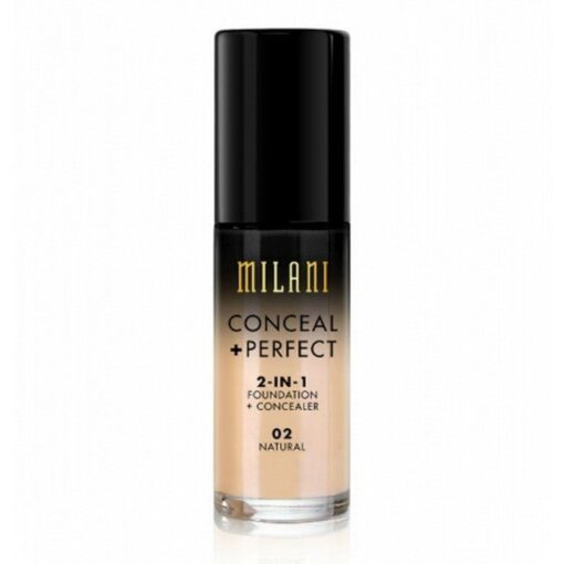 Milani - Foundation 2in1 Conceal Perfect Foundation and Concealer - 08 Light Tan fra Milani Cosmetics