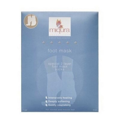 Miqura - Foot Mask 2 Layer Socks - 1 Par fra