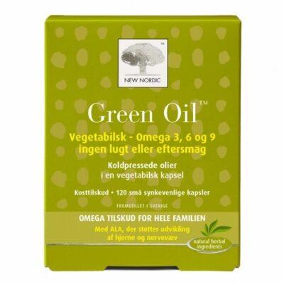 New Nordic - Green Oil Kosttilskud - 120 Vegetabilske Kapsler fra New Nordic