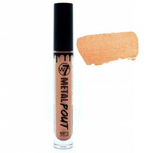 W7 Cosmetics - Metal Pout Matte Lip Gloss - Blaze fra W7 Cosmetics